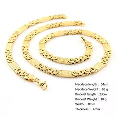 Hpolw Gold Plated Men Necklace and Bracelet Set Necklace Stainless Steel 316l Hpolw http://www.amazon.com/dp/B00Y2LT49G/ref=cm_sw_r_pi_dp_nV82vb0Q4E4EQ