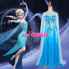 Disney Frozen Elsa dress Movie costume cosplay tailor-made  G1225
