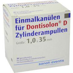 DONTISOLON D Einm.Kan.f.Dontisolon D Zyl.Ampulle:   Packungsinhalt: 50 St Kanüle PZN: 06992505 Hersteller: Sanofi-Aventis Deutschland…