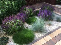 Ewa Szumowska's photo. shed landscaping shed la … - Modern Rock Flower Beds, Shed Landscaping, Front Yard Decor, Small Front Gardens, Garden Stairs, Gravel Garden, Small Garden Design, Garden Inspiration, Outdoor Gardens