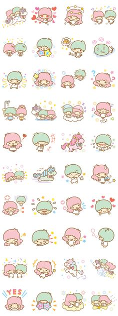 Little Twin Stars(Twinkle Days ver.) - LINE Sticker