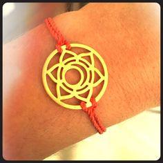 Lotus flower Taudrey bracelet Orange and gold lotus flower adjustable bracelet. Taudrey Jewelry Bracelets