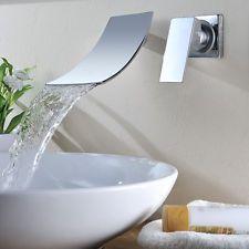 Wasserfall Badarmatur Waschtisch Einhand Armaturen Wasserhahn Waschbecken Neu