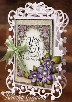 You Are - #HeartfeltCreations #Mother'sDay #mothersday #papercraft #cardmaking #scrapbooking