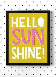 Hello Sunshine 8x10 Art Print