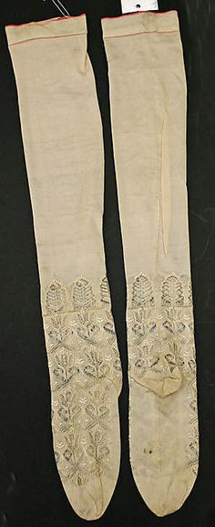 French silk stockings 1846