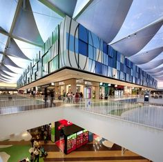 Client: Chamartin Imobiliaria & ING Real Estate Project: Dolce Vita Tejo Shopping Centre Location: Lisbon, Portugal Structural Engineer: Atelier One Architect: RTKL, London & Promontorio, Lisbon Completed: 2009 Value: £confidential Completed in 2009 PT Projects worked closely with Atelier One to procure and delivery this unique Roof and managed to deliver a substantial cost reduction while ensuring the design integrity was...Read more... Shopping Mall Interior, Shopping Malls, Retail Interior, Skylight Design, Airport Design, Eco City, Commercial Complex, Mall Design, Modern Architecture Design