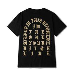 Parijs seizoen kanye west ik voelen als pablo straat t-shirt, hiphop t-shirt