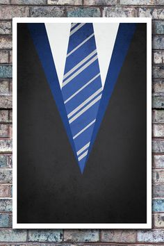 Minimal Ravenclaw Robe Poster - Harry Potter Art Print - 11x17. $13.99, via Etsy.