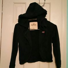 Hollister short sweat jacket (224) Hollister navy blue short sweat jacket American Eagle Outfitters Tops Sweatshirts & Hoodies