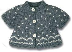 Knitted Baby cardigan no pattern Kids Knitting Patterns, Knitting For Kids, Knitting For Beginners, Crochet For Kids, Baby Patterns, Crochet Baby, Knit Crochet, Cardigan Bebe, Knitted Baby Cardigan