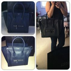 Navy Celine Mini-luggage! Celine Mini Luggage, Celine Bag, Luggage Bags, Clutches, Wallet, Navy, Accessories, Hale Navy, Old Navy