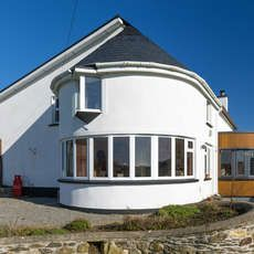 Extension to House Over 100 Years Old in New Ross, Wexford Timber Cladding, House Extensions, Old Houses, Year Old, Gazebo, Curves, Outdoor Structures, Building, Outdoor Decor
