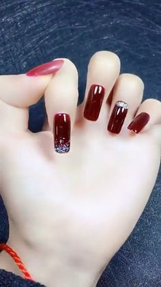 Pin by Nails Artistic on Best Nails Designs [Video] in 2019 Nails, Xmas nail designs, Stylish nails Xmas Nails, Holiday Nails, Halloween Nails, Red Nails, Christmas Nails, Xmas Nail Designs, Black Nail Designs, Cool Nail Designs, Pretty Gel Nails