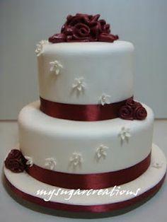 Maroon Wedding Cake Hailstate