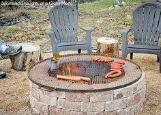 Simple DIY Outdoor Fire Pitt - faire soit même un simple foyer de briques pour BBQ maison dans son jardin