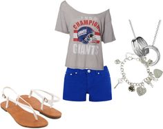 """Game Day(:"" by kaylee-kimberlin on Polyvore"
