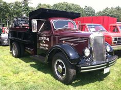 Antique Mack 6 wheel dump truck