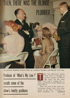 Louella Parsons, Hedda Hopper, Bennett Cerf, What's My Line, John Daly, Old Shows, The Hollywood Reporter, Music Artists, Growing Up