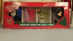 A Christmas Story Pint Glass Collector's Series 4-Pack Featuring Ralphie # 71066