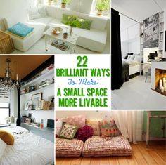 22 Brilliant Ideas For Your Tiny Apartment  SOME GREAT TINY HOUSE IDEAS