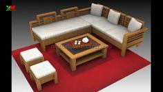 Thiết kế bàn ghế gỗ phòng khách   ban ghe go phong khach