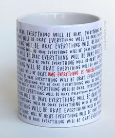 Coffee mugs, Emily McDowell
