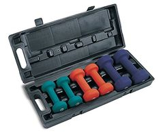 Marcy Neoprene Dumbbell Set Dumbbell set with 3 pairs of weights Includes and Neoprene handles are soft and comfortable Stored in compact plastic carrying case Ideal for on-the-go use Weight Lifting Equipment, Strength Training Equipment, Home Gym Equipment, No Equipment Workout, Fitness Equipment, Free Weight Workout, Weight Workouts, Workout Exercises, Workout Gear