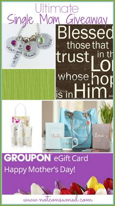 Single Mom Giveaway...over $725 in prizes. Please pin this and share it so every single mom can be blessed!