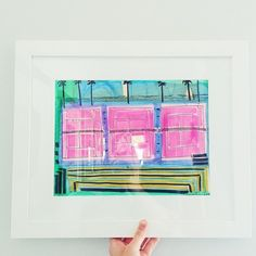 Love seeing this court framed up ! Thanks for sharing @waitingonmartha  ... If you're in Atlanta and interested in smaller unframed works on paper, join me and others tomorrow 10-3pm 40 Highland Drive 30305 - will put everything I have left over on the website shop Wednesday !