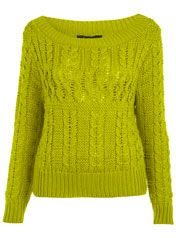 Chartruese Cable Jumper  Miss Selfridge