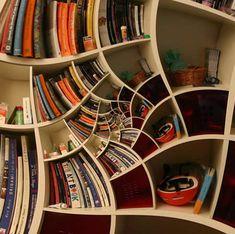 topsy turvy book shelves