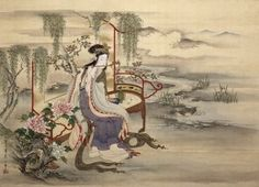 Four Beauties - A Japanese painting by Edo-based artist Hosoda Eishi titled The Chinese beauty Yang Guifei, early century Sun Tzu, Japanese Painting, Chinese Painting, Chinese Artwork, Japanese Artwork, Macau, Japanese Drawings, Japanese Aesthetic, Korean Art