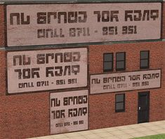 Urban painted brick signs/ads