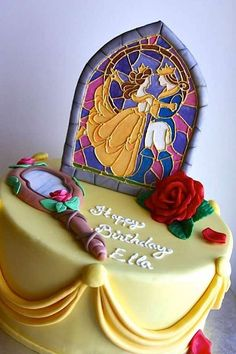 Cake Wrecks - Home - Sunday Sweets: Pretty As APrincess [the stained glass is very cool]