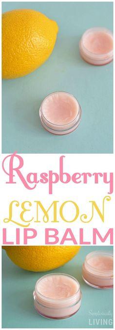Raspberry Lemon Lip Balm Simplistically Living
