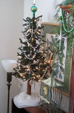 Vintage crystal tree
