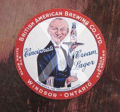 British American Brewing co beer coaster vintage Cincinnati