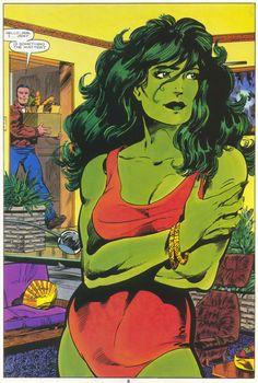 The Sensational She-Hulk - Marvel Graphic Novel n°18 p6. Art by John Byrne.