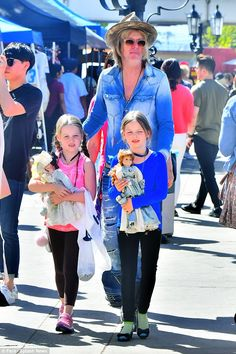 Day with dad: Lisa Marie Presley's estranged husband Michael Lockwood stepped out with the...