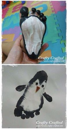Footprint Penguin Craft for Kids to Make so cute for a winter art project gr. Footprint Penguin Craft for Kids to Make – so cute for a winter art project great keepsake idea Art craft Cute footprint Kids penguin project winter winteraesthetic Kids Crafts, Daycare Crafts, Baby Crafts, Preschool Activities, Winter Toddler Crafts, Horse Crafts Kids, Infant Crafts, Science Crafts, Preschool Kindergarten