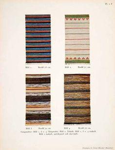 1950 Color Print Swedish Rugs