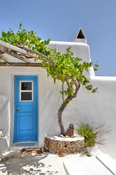 Greece - blue, white and green
