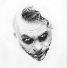 Awesome drawing of the Joker <3