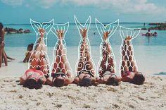 Imagem de mermaid, beach, and summer