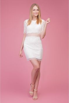 Koronkowelove  #lace #dress #white #mini #sukienka #koronka #depare