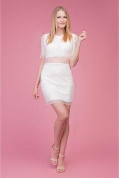 Koronkowelove  #lace #dress #white #mini #sukienka #koronka #depare