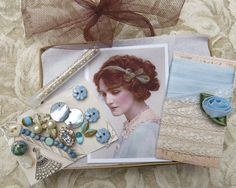 Vintage and contemp. adornments for crazy quilting by GypsyFeather