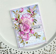 Handmade Card, Foamiran Flowers, Scrapandme papiers. Kartka scrapbooking, Kwiaty z foamiranu.