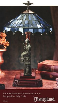 Disneyland Haunted Mansion Stained Glass Lamp by Miehana, via Flickr